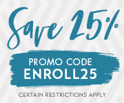 Save with promo code ENROLL25